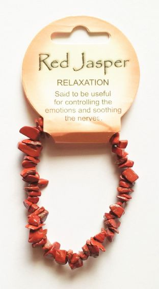 Crystal Energy - Red Jasper - Relaxation - Gemstone Chip Bracelet